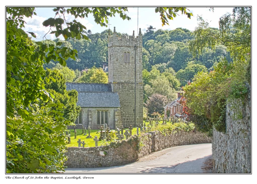 Lustleigh Church taken from the north side