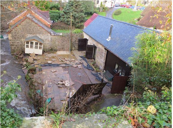 Damage to garden of Pound Barn